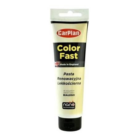 CarPlan T-CUT Color Fast - Nano pasta koloryzująca do usuwania rys Biała 150g