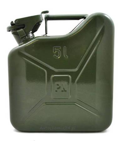 Kanister metalowy na paliwo benzynę olej 5L