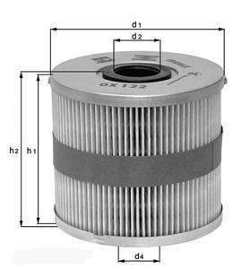 Knecht filtr oleju OX177/3D ECO - BMW 730D E65 10/02-