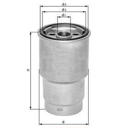 Knecht filtr paliwa KX84D - Peugeot, Citroen 1,9 98- mot.DW8 (owalny)