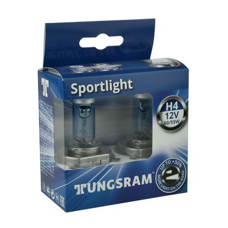 Żarówka samochodowa H4 Tungsram SportLight Bluish +50% - 2szt